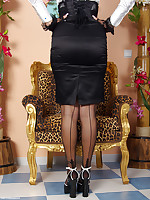 busty clothed sex fetish model Trinity as a kinky rockabella in stockings,.. - Granny Girdles