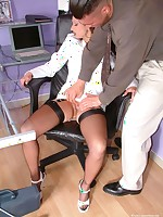 leggy clothed sex in the office - Granny Girdles