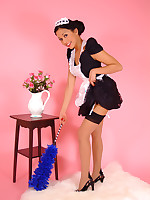 Charming maid Petra Lily So makes her cleaning duties for you as sexy as.. - Granny Girdles